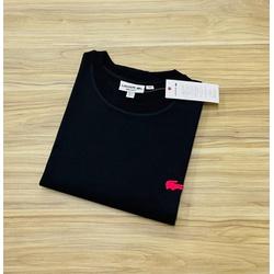Camiseta Lacoste 3D Básica Preto - LCT-00405-19 - ATACADOPERUANAS