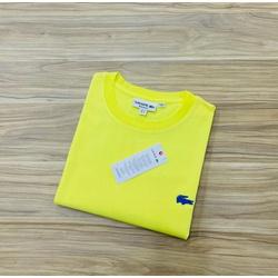 Camiseta Lacoste Básica 3D Amarela - LCT-00405-21 - ATACADOPERUANAS