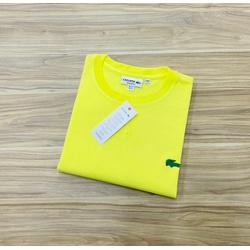 Camiseta Lacoste Básica 3D Amarela - LCT-00405-22 - ATACADOPERUANAS