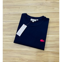 Camiseta Lacoste Básica 3D Azul Escuro - LCT-00405... - ATACADOPERUANAS