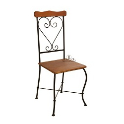 Cadeira de Jantar Encosto Coração - 73 - JLARTESANATO
