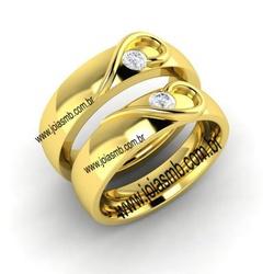 7004 - Alianças de Casamento Colinas do Tocantins 7,5mm - Joias MB