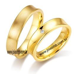 6098 - Alianças de Casamento Bom Jesus do Itabapoana 5mm - Joias MB