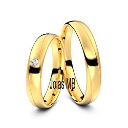 5370 - Alianças 3,5mm de Casamento Caçapava - Joias MB