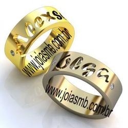6066 - Alianças de Casamento Camaçari 7mm - Joias MB