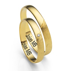 5414 - Alianças de Casamento Concórdia 3mm - Joias MB