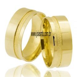 5379 - Alianças de Casamento Cravinhos 7,5mm - Joias MB