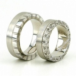 5021 - Alianças de Casamento Tanabi 8,5mm - Joias MB