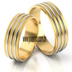 6058 - Alianças de Casamento Jacobina 8,5mm - Joias MB