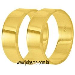 5853 - Alianças de Casamento Kobe 6mm - Joias MB