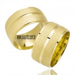 6007 - Alianças de Casamento Lins 10,5mm - Joias MB