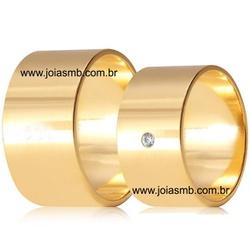 5181 - Alianças de Casamento Morrinhos 10mm - Joias MB