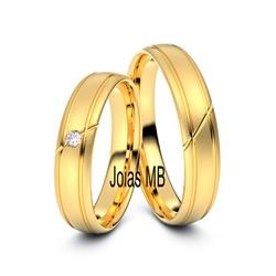 5407 - Alianças de Casamento Peruíbe 5mm - Joias MB