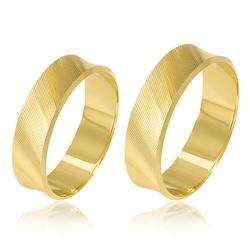 4650 - Alianças de Casamento Rio Bonito 5mm - Joias MB