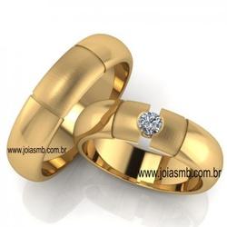 4500 - Alianças de Casamento Sinop 6mm - Joias MB