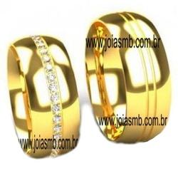 4863 - Alianças de Noivado Teresópolis 8,5mm - Joias MB