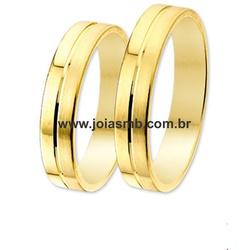 4102 - Alianças 5mm de Ouro Belem - Joias MB