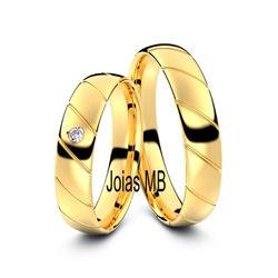 4103 - Alianças de Ouro Anatômica BH 5,4mm - Joias MB