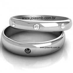 5177 - Alianças de Casamento Candelária 5mm - Joias MB