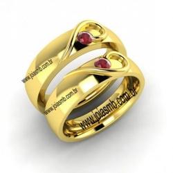 7003 - Alianças de Casamento Anicuns 7mm - Joias MB
