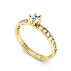 7563 - Anel Solitário de Diamantes Juiz de Fora - Joias MB