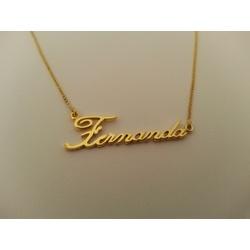 3044 - Colar de Ouro com Nome Escrito - Cuiaba - Joias MB