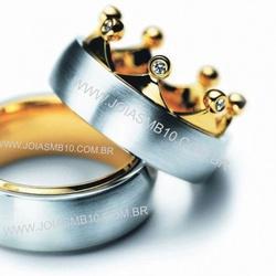 5791 - Alianças de Casamento Codó 10,4mm - Joias MB