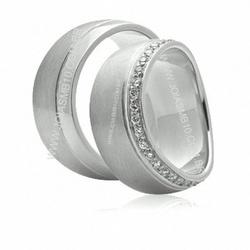 5499 - Alianças de Casamento Palmeira 7,5mm - Joias MB