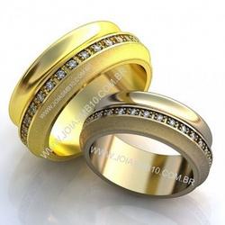 5776 - Alianças de Casamento Pontalina 8,4mm - Joias MB