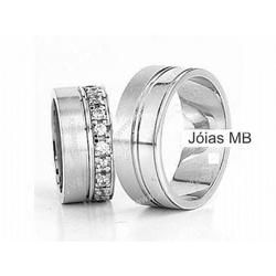 5304 - Alianças de Casamento Crato 9,5mm - Joias MB