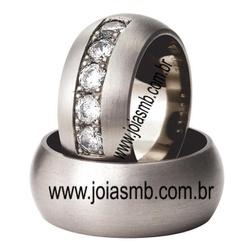 5967 - Alianças de Casamento Cachoeira Paulista 11,5mm - Joias MB