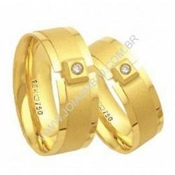 3989 - Alianças de Casamento Santo Estêvão 6,5mm - Joias MB