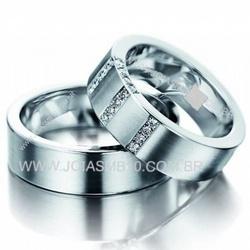 5378 - Alianças de Casamento José Bonifácio 6,4mm - Joias MB