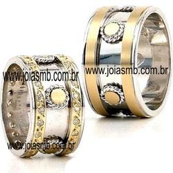5374 - Alianças de Casamento Torres 11mm - Joias MB