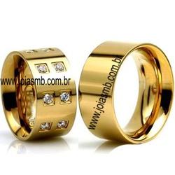 5429 - Alianças de Casamento Caldas Novas 10,5mm - Joias MB