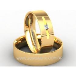 4673 - Alianças de Casamento Paracatu 7,4mm - Joias MB