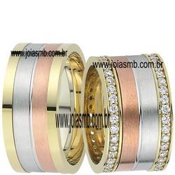 5298 - Alianças de Casamento Guaíra 12,5mm - Joias MB