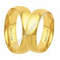 4112 - Alianças de Ouro Anatômica DF 6mm - Joias MB