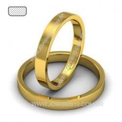 4220 - Alianças 3,3mm de Ouro 18k Porto Velho 3,3mm - Joias MB