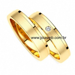 7059 - Alianças de Casamento 10 Gramas 5mm - Joias MB