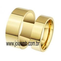 7067 - Alianças de Casamento Portão 7,3mm - Joias MB
