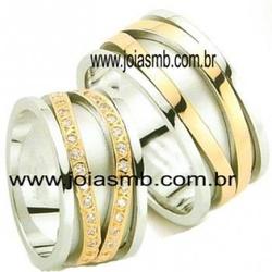 4984 - Alianças de Casamento Barrinha 10mm - Joias MB