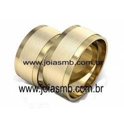 5971 - Alianças de Ouro 18k Belém 10mm - Joias MB