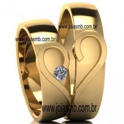 5343 - Alianças de Casamento Almenara 7,5mm - Joias MB