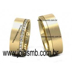 5990 - Alianças de Casamento Simões Filho 6,4mm - Joias MB