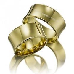 5467 - Alianças de Casamento Leopoldina 11mm - Joias MB