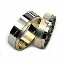 5341 - Alianças de Casamento Machado 7mm - Joias MB