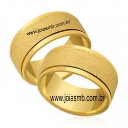 5477 - Alianças de Ouro Aparecida de Goiania 13mm - Joias MB