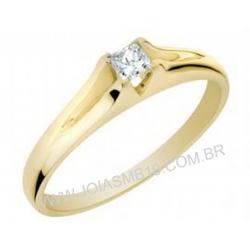 7528 - Anel solitário de Diamante Porto Alegre - Joias MB