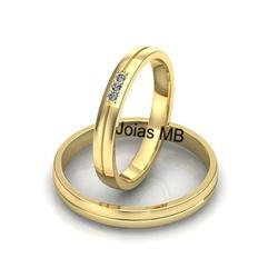 5171 - Alianças 3,5mm de Casamento Paraúna - Joias MB